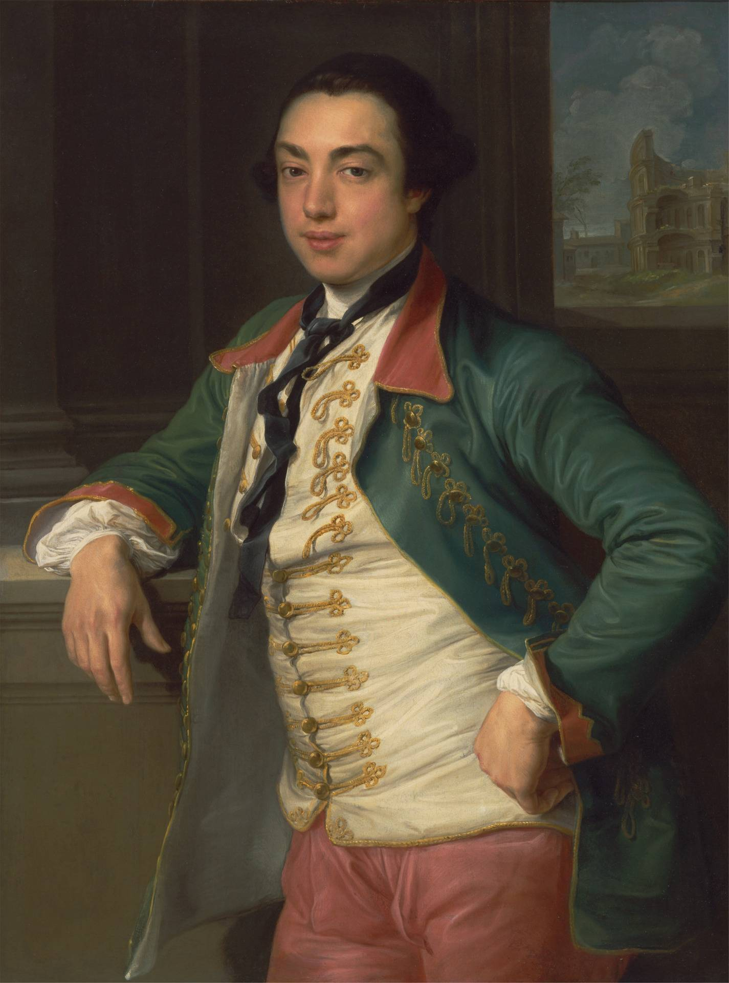 James Caulfeild, fourth Viscount Charlemont (Later first Earl of Charlemont) by Pompeo Batoni (1708–1787). Oil on canvas. Dated between 1753 and 1756. Yale Center for British Art, Paul Mellon Collection.