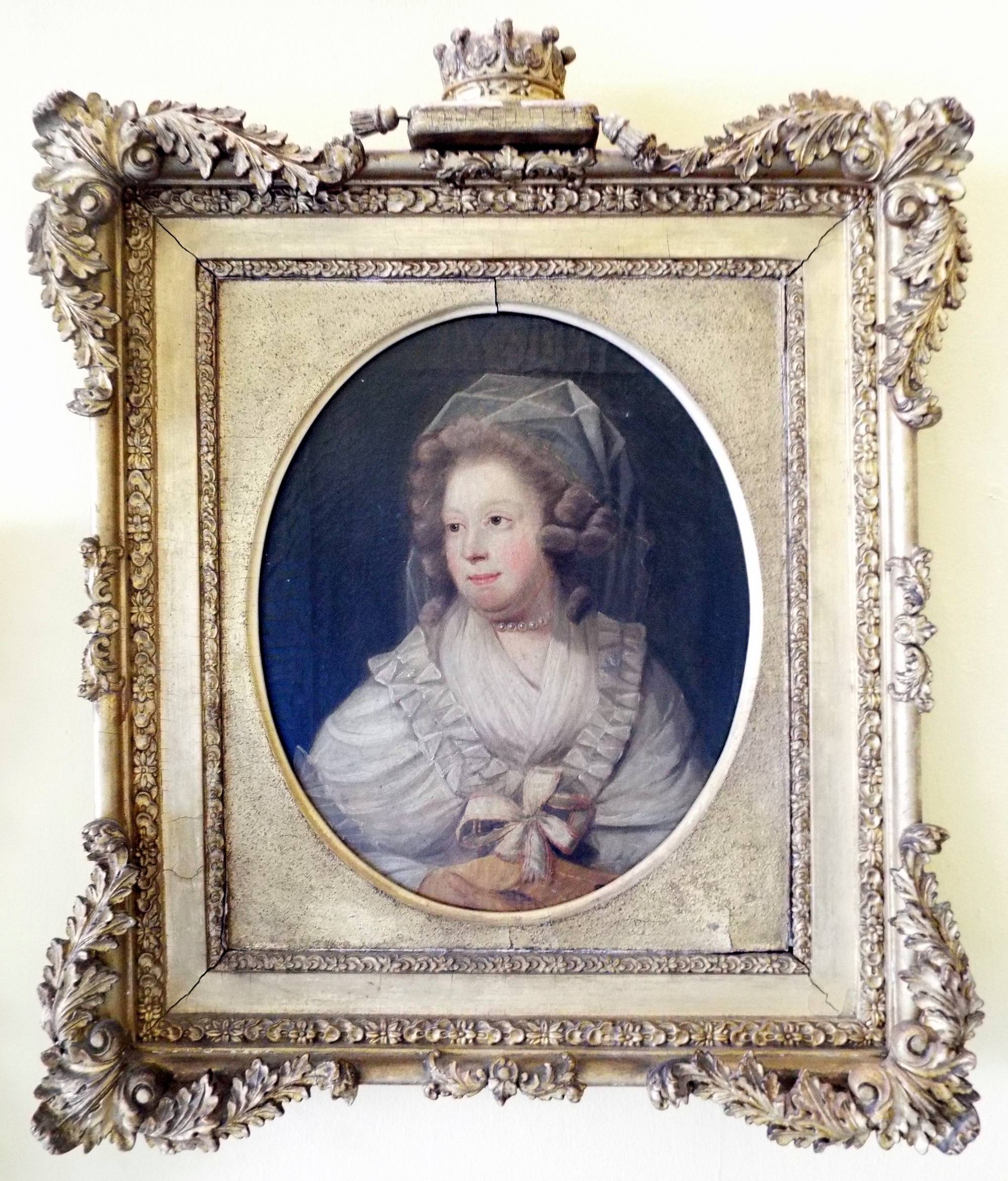 Mary Caulfeild (née Hickman), Countess of Charlemont, probably by an artist in the circle of John Downman (1750-1824). The Hunt Museum, Limerick.