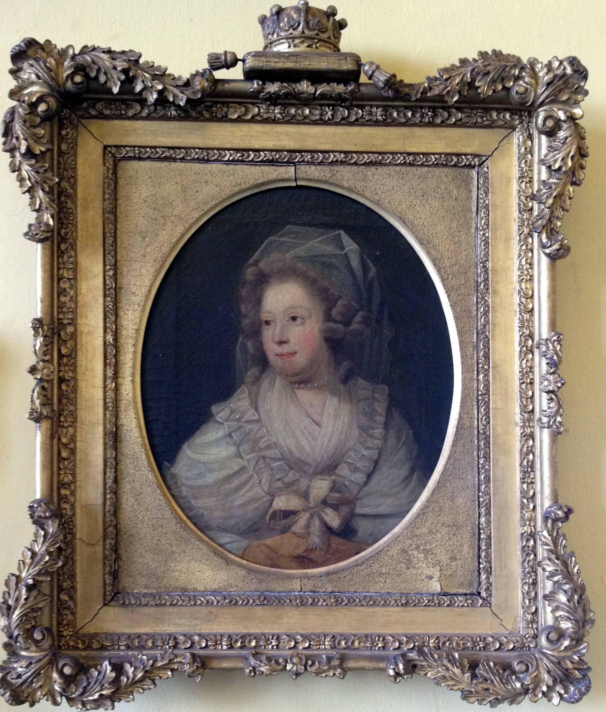 Mary Caulfeild (née Hickman), Cuntaois Charlemont, ceaptar gur ealaíontóir i gciorcal John Downman (1750-1824) a rinne. Músaem Hunt, Luimneach.